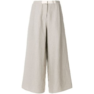 Dusan flared cropped trousers - ヌード&ナチュラル