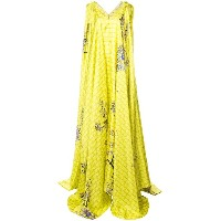 Vionnet draped blossom gown - イエロー&オレンジ