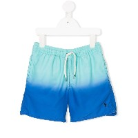 Ralph Lauren Kids dégradé drawstring swim shorts - ブルー