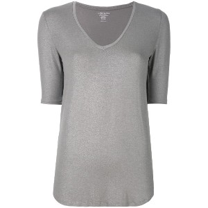 Majestic Filatures metallic v-neck top - グレー