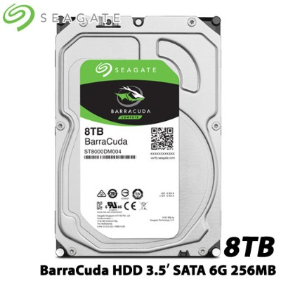 SEAGATE ST8000DM004 [BarraCuda(8TB HDD 3.5インチ SATA 6G 256MB)]