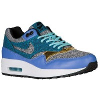 (取寄)Nike ナイキ レディース エア マックス 1 Nike Women's Air Max 1 Black Black Polar White Blue Lagoon