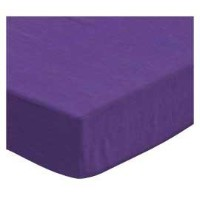 SheetWorld Fitted Pack N Play (Graco) Sheet - Solid Purple Woven - Made In USA by sheetworld