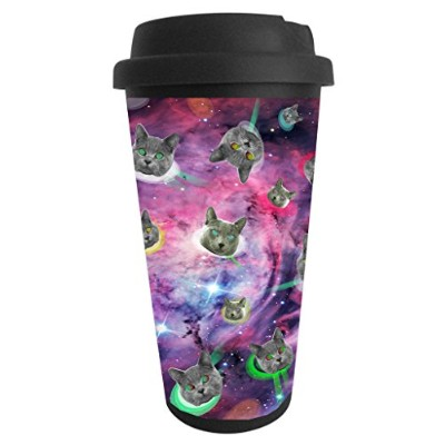 Funny Guy Mugs Space Cats Travel Tumbler, 470ml
