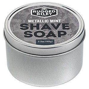 Rugged Riley All Natural Men's Metallic Mint Shave Soap by Fabulous Frannie