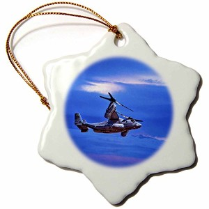 3dローズChris Lord航空 – Ospreyヘリコプター海兵隊 – Ornaments 3 inch Snowflake Porcelain Ornament orn_55969_1