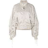 Damir Doma lace up bomber jacket - ヌード&ナチュラル