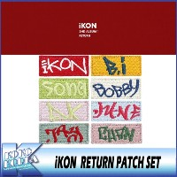 iKON/iKON RETURN PATCH_iKON RETURN SET/iKON 2ND ALBUM OFFICIAL MD/アイコン公式グッズ/YG