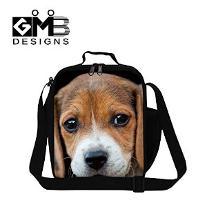 Generic Cute Dog 3D Lunch Box Bags for Kids Womens Stylish Meal Bag for Work Picnic Bag by GIVE ME BAG