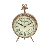 Gold Roman Numeral Desk Clock [並行輸入品]