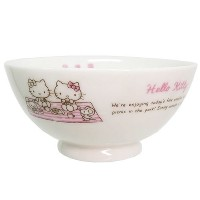 Kanesho Pottery Sanrio Hello Kitty Rice Bowl Holidayピクニック309101