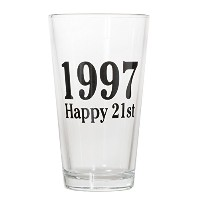 1997 Happy 21st Pintまたはショットガラス – Celebrate Turning Twenty One ( 1997 ) 15oz