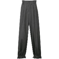 Moohong rear pleat jog pants - グレー