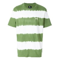 Stussy striped style T-shirt - グリーン