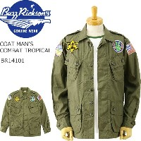 "BUZZ RICKSON'S (バズリクソンズ) トロピカル コンバットジャケット ""PEACE PATCH"" [BR14101]「COAT MAN'S COMBAT TROPICAL」..."