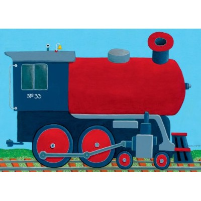 Oopsy Daisy Train Engine Stretched Canvas Wall Art by Max Grover, 14 by 10-Inch by Oopsy Daisy