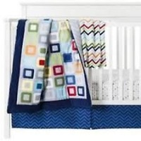 Circo Boys Geometric Square 'N Dippity Nursery Set - 4 Pieces. 100% Cotton by Circo