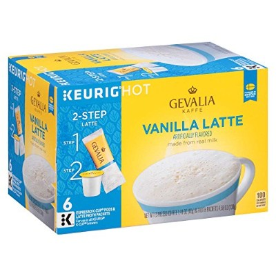 Gevalia Vanilla Latte K-Cup Packs and Froth Packets - 6 count by Gevalia