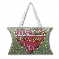 C・R・ギブソンHanging Holidayギフトカードホルダー、Give More Than You Get