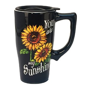 """Spoontiques """" You are my sunshine """"旅行マグ、ブラック"""