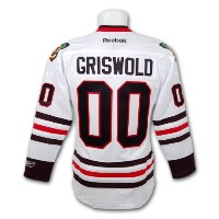 Clark Griswoldクリスマス休暇Blackhawks PremierレプリカホワイトHockey Jersey