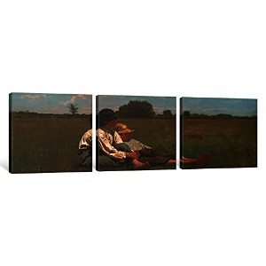 iCanvasART 3Piece Boys in a pastureキャンバスプリントby Winslow Homer、0.75X 36X 12-inch