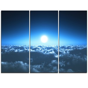 Night Flight Above Clouds Extra Large壁アート風景