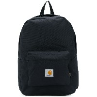 Carhartt logo patch backpack - ブラック
