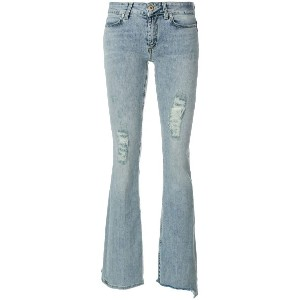 Dondup frayed bootcut jeans - ブルー
