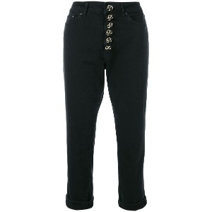 Dondup embellished high waisted trousers - ブラック