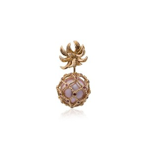 Yvonne Léon Yellow Pineapple Pearl and Gold Earring - メタリック