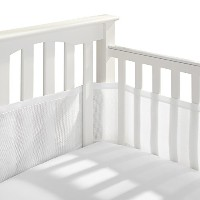 BreathableBaby Breathable Mesh Crib Liner, White by BreathableBaby