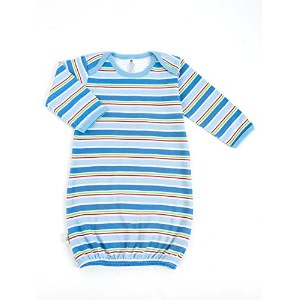Tadpoles Cotton Sleep Gown, Boys Stripe, 0-6 Months by Tadpoles