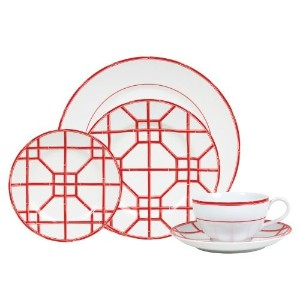 Lauren by Ralph LaurenレッドPagoda 5 Piece Place Setting