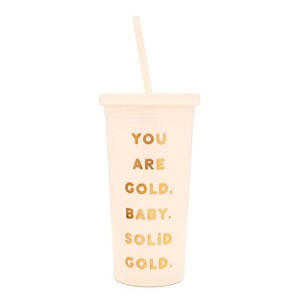 ban.do バンドゥー タンブラー SIP SIP TUMBLER WITH STRAW You Are Gold