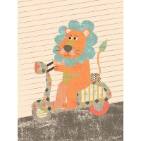 Oopsy Daisy Fine Art for Kids Toot、TOOT TOOTストレッチキャンバスアートby Lizaルイス、18by 24インチ