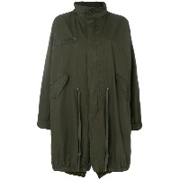 Zadig & Voltaire Kiko Brodé Butterfly parka coat - グリーン