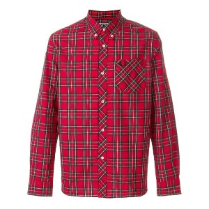 Fred Perry X Art Comes First button down check shirt - レッド