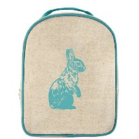 SoYoung Toddler Lunch Box Bunny - Raw Linen, Aqua by SoYoung