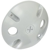 RAB Lighting C103 Die Cast Aluminum Weatherproof Round Cover with 3 Holes, 4-1/2 Diameter, Silver...