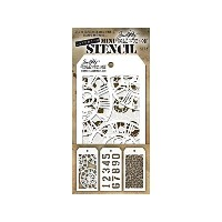 Tim Holtz Mini Layered Stencil Set 3/Pkg-Set #2 by Stampers Anonymous