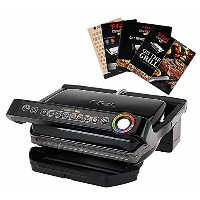 T-fal GC704 OptiGrill Stainless Steel Indoor Electric Grill with Removable and Dishwasher Safe...