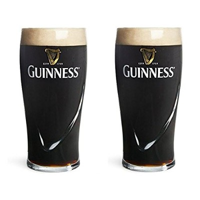 Guinness Beer Glass 590ml 1 Pint Set of 2
