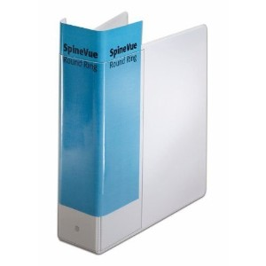 "SpineVue Round Ring View Binder, 3"" Capacity, White (並行輸入品)"