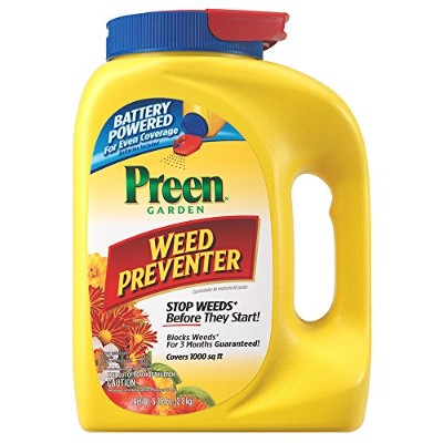 Preen Garden Weed Preventer with Power Spreader Cap - 6.25 lb. Covers 1000 sq. ft. by Preen