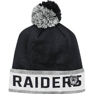 "Oakland Raiders Mitchell & Ness NFL Vintage ""Block"" Knit Hat w/ Button"