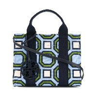 Tory Burch printed mini Tory tote - ブルー