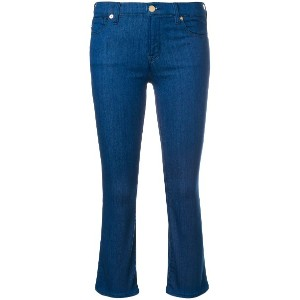 Love Moschino cropped bootcut jeans - ブルー