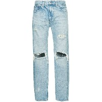 monkey time distressed jeans - ブルー