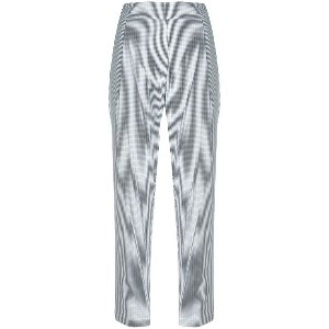 Semicouture gingham cropped trousers - ブラック